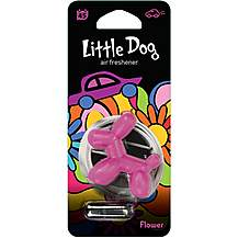 image of Little Dog Pink Flower Air Freshener