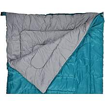 image of Halfords Double Envelope Sleeping Bag - Green
