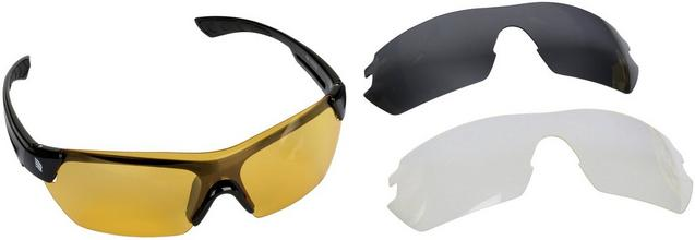 Ridge Interchangeable Lens Sunglasses - Black