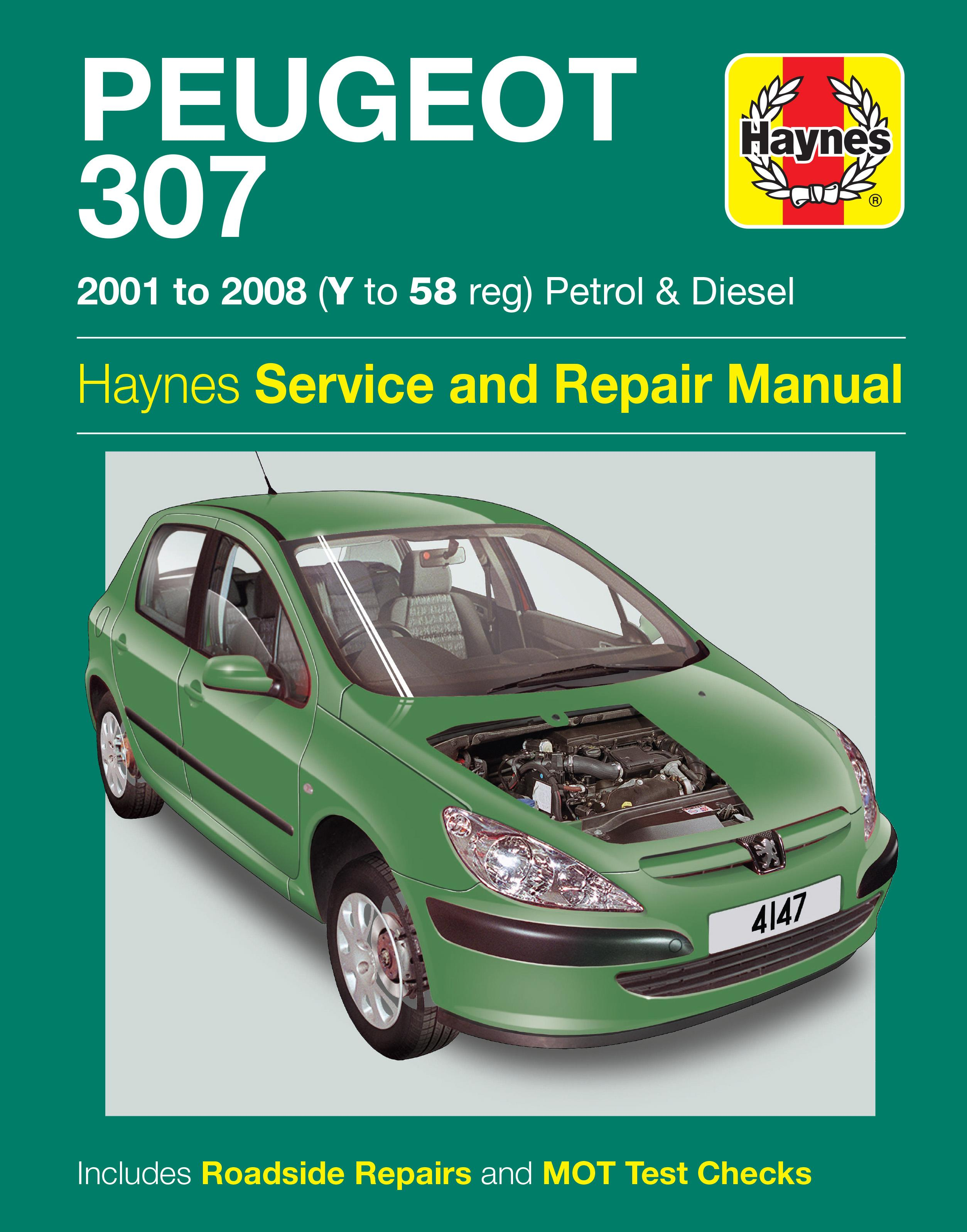 haynes peugeot 307 01 08 manual rh halfords com Peugeot 206 CC Peugeot 307 CC Sports