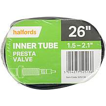 Halfords Presta Bike Inner Tube - 26 x 1.5 -