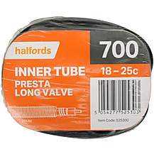 Halfords Presta Bike Inner Tube - Long Valve