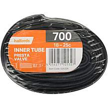 Halfords Presta Bike Inner Tube -700c x 18-25