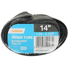 Halfords Schrader Bike Inner Tube 14 x 1.75-2