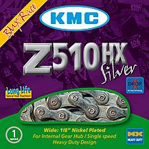 image of KMC Z510 HX 1/8 BMX Bike Chain Silver - 112L