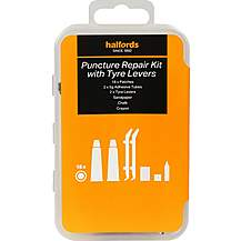 image of Halfords Essentials Puncture Repair Kit with Tyre Levers - Large