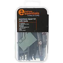image of Halfords Essentials Puncture Repair Kit and Tools