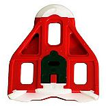 Look Delta Bi-Material Red Cleats with 9 Degree Float