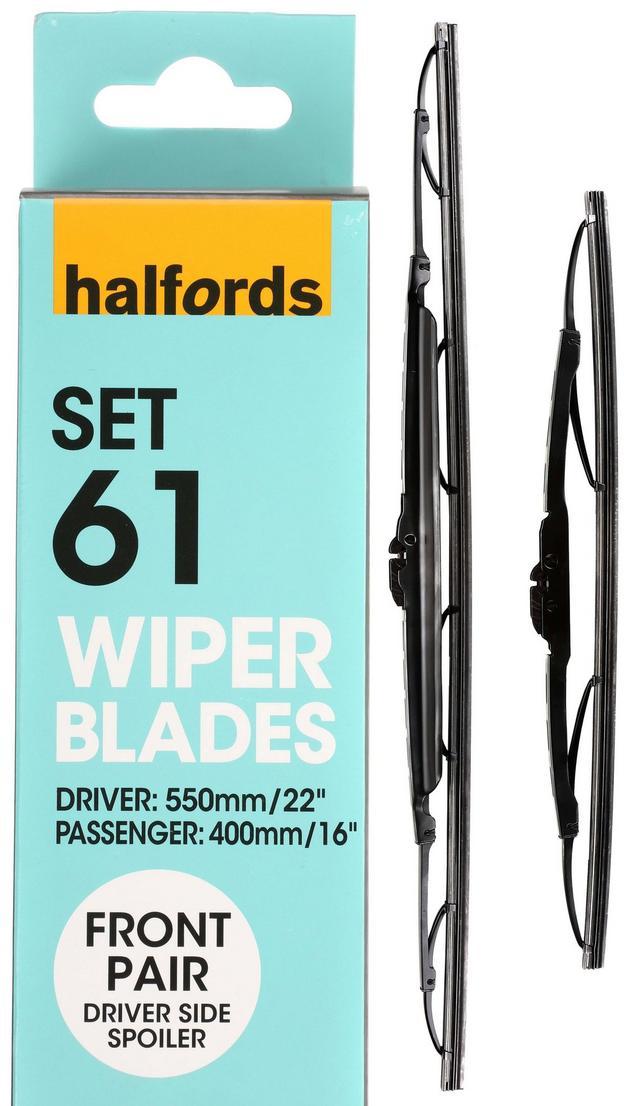 Halfords Set  Wiper Blades Front Pair
