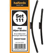 image of Halfords Set 111 Wiper Blades - Front Pair