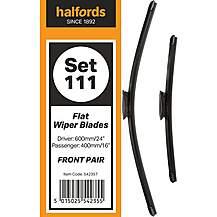 Halfords Set 111 Wiper Blades - Front Pair