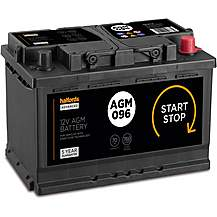 Halfords 096AGM Start/Stop AGM 12V Car Batte