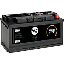 Halfords 019AGM Start/Stop AGM 12V Car Batter