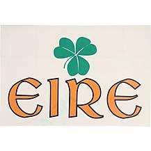 image of Eire Shamrock Rectangular Sticker