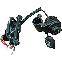 image of Halfords Waterproof Dual USB Motorcycle Socket