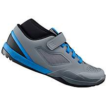 image of Shimano AM7 Mountain Bike SPD Shoes - Grey/Blue