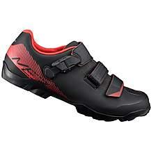 image of Shimano ME3 Mountain Bike Shoe, Wide Fit - Black/Orange