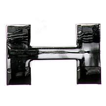 image of Chrome Letter Badge H