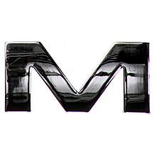 image of Chrome Letter Badge M