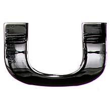 image of Chrome Letter Badge U