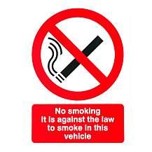 image of No Smoking Car Sticker