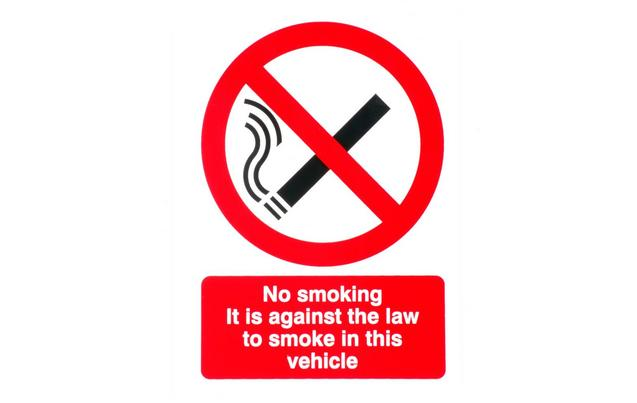 No smoking car sticker