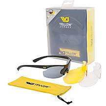 image of Yellow Jersey Sunglasses with Interchangeable Lens - Black