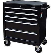 image of Halfords 5 Drawer Cabinet - Black