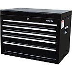 image of Halfords 5 Drawer Top Chest - Black