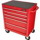 image of Halfords 5 Drawer Cabinet - Red