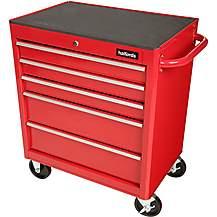 image of Halfords 5 Drawer Cabinet - Red