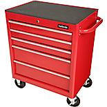 Halfords 5 Drawer Cabinet - Red