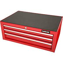 image of Halfords 3 Drawer Mid Chest - Red