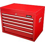 Halfords 5 Drawer Top Chest - Red