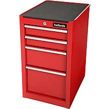 image of Halfords 4 Drawer Side Cabinet - Red