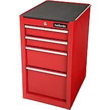 image of Halfords 4 Drawer Side Cabinet - Red