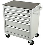 image of Halfords 5 Drawer Cabinet - Silver