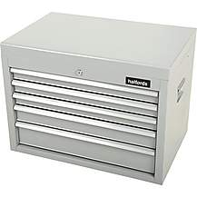 image of Halfords 5 Drawer Top Chest - Silver