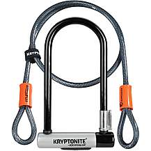 image of Kryptonite KryptoLok D-Lock With 4 Foot Kryptoflex Cable