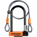 image of Kryptonite Evolution Mini 7 D-Lock With 4 Foot Kryptoflex Cable