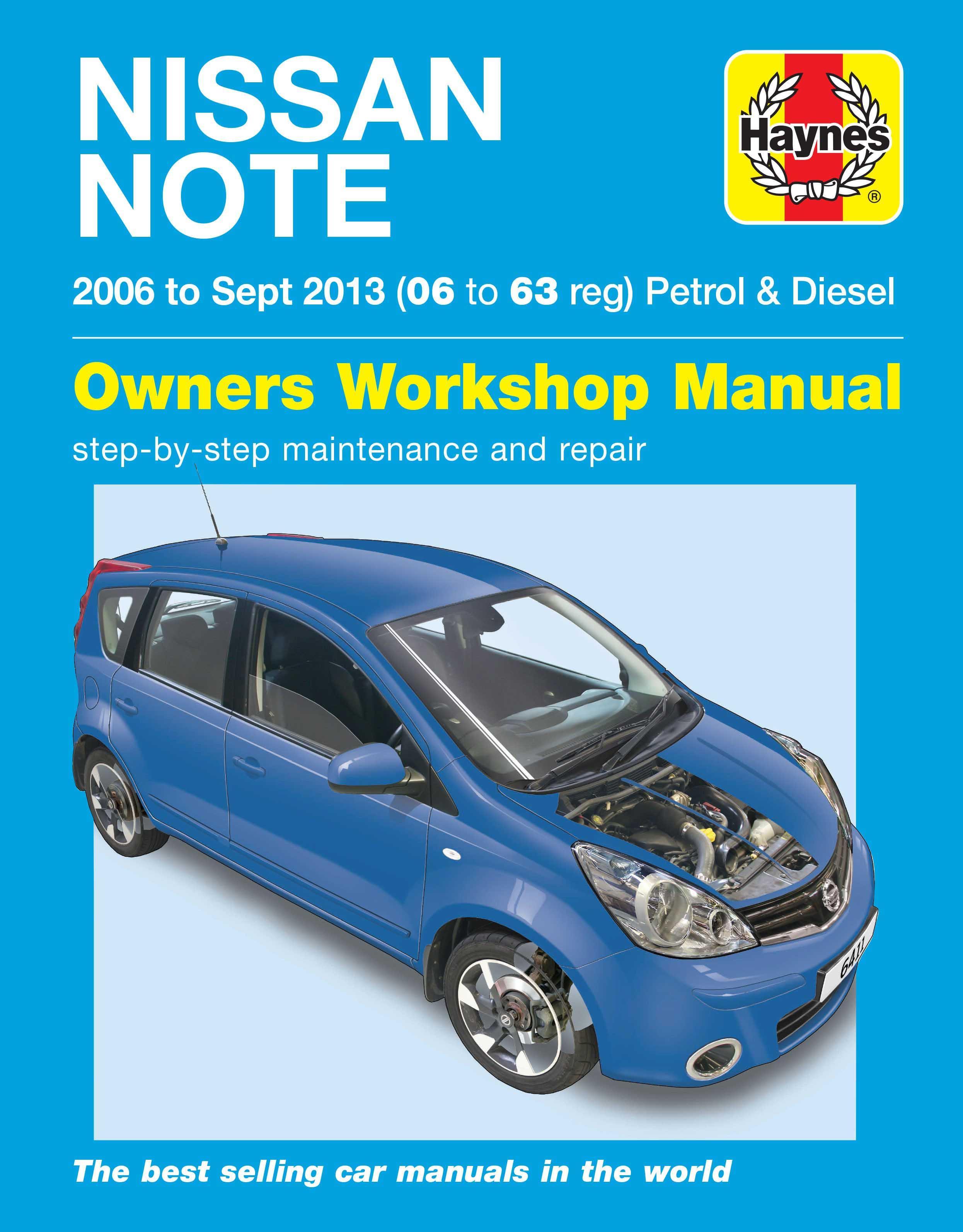haynes nissan note mini mpv apr 06 rh halfords com nissan note user guide nissan note owners manual