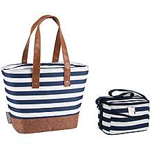image of Summerhouse Coast Insulated Personal Cool Bag and Insulated Shoulder Tote - Navy