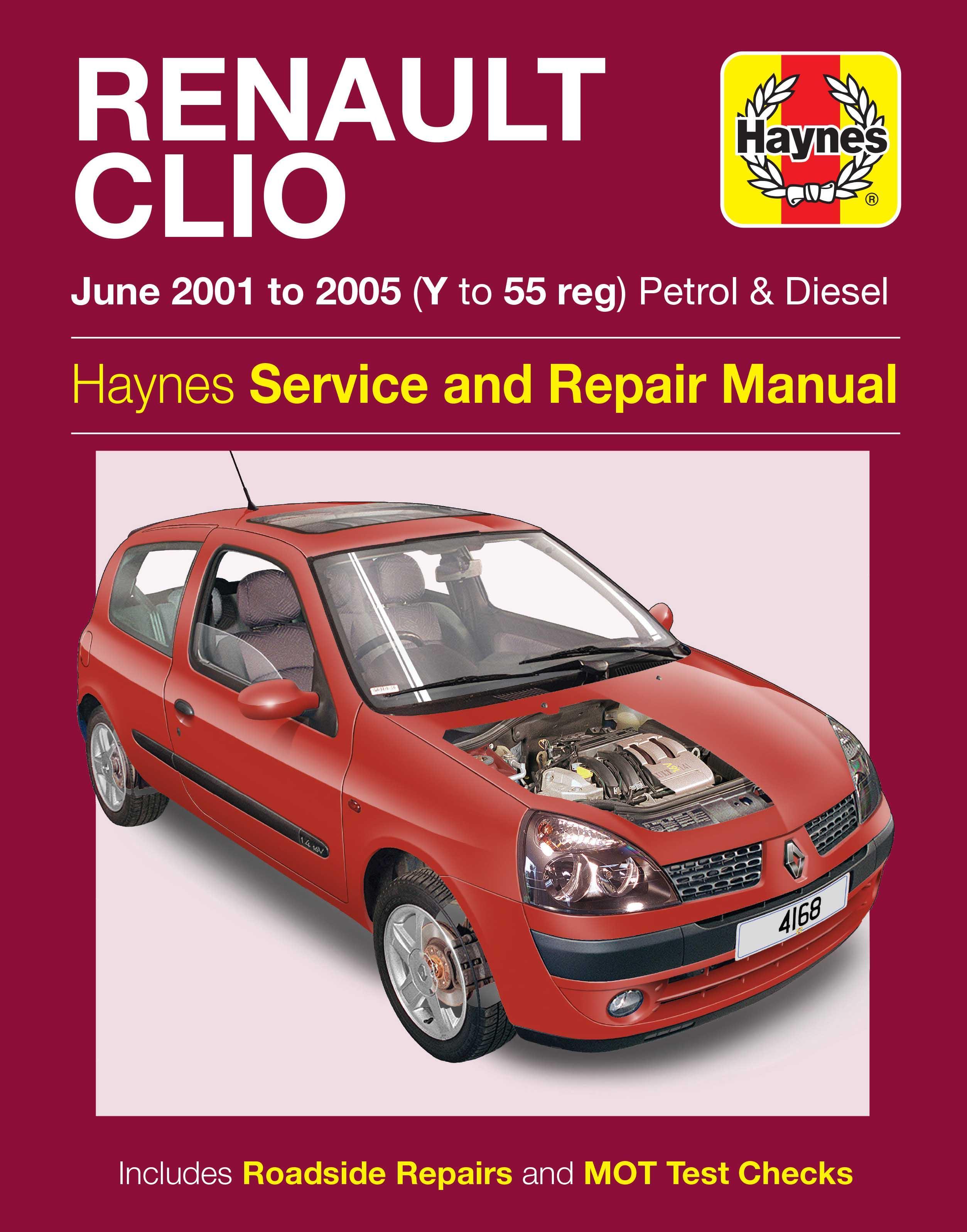 haynes renault clio june 01 05 ma rh halfords com Clymer Manuals Haynes Manuals for 2003 Jeep