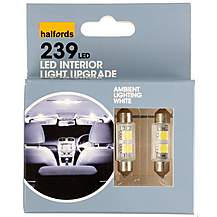 image of Halfords 239 C5W White Interior Upgrade  Car Bulbs x 2