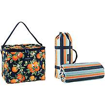 image of Summerhouse Seville Insulated Family Cool Bag and Picnic Blanket Set