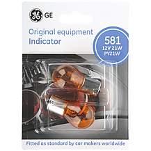 image of GE 581 PY21W Car Bulbs x 2
