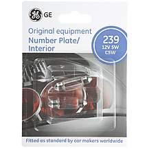 image of GE 239 C5W Car Bulbs x 2