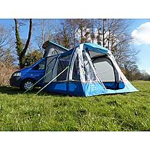 image of OLPro Loopo Breeze XL Campervan Awning - Blue/Grey