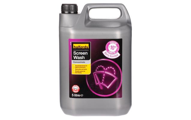 Halfords -10 Concentrate Screenwash 5L - Berry