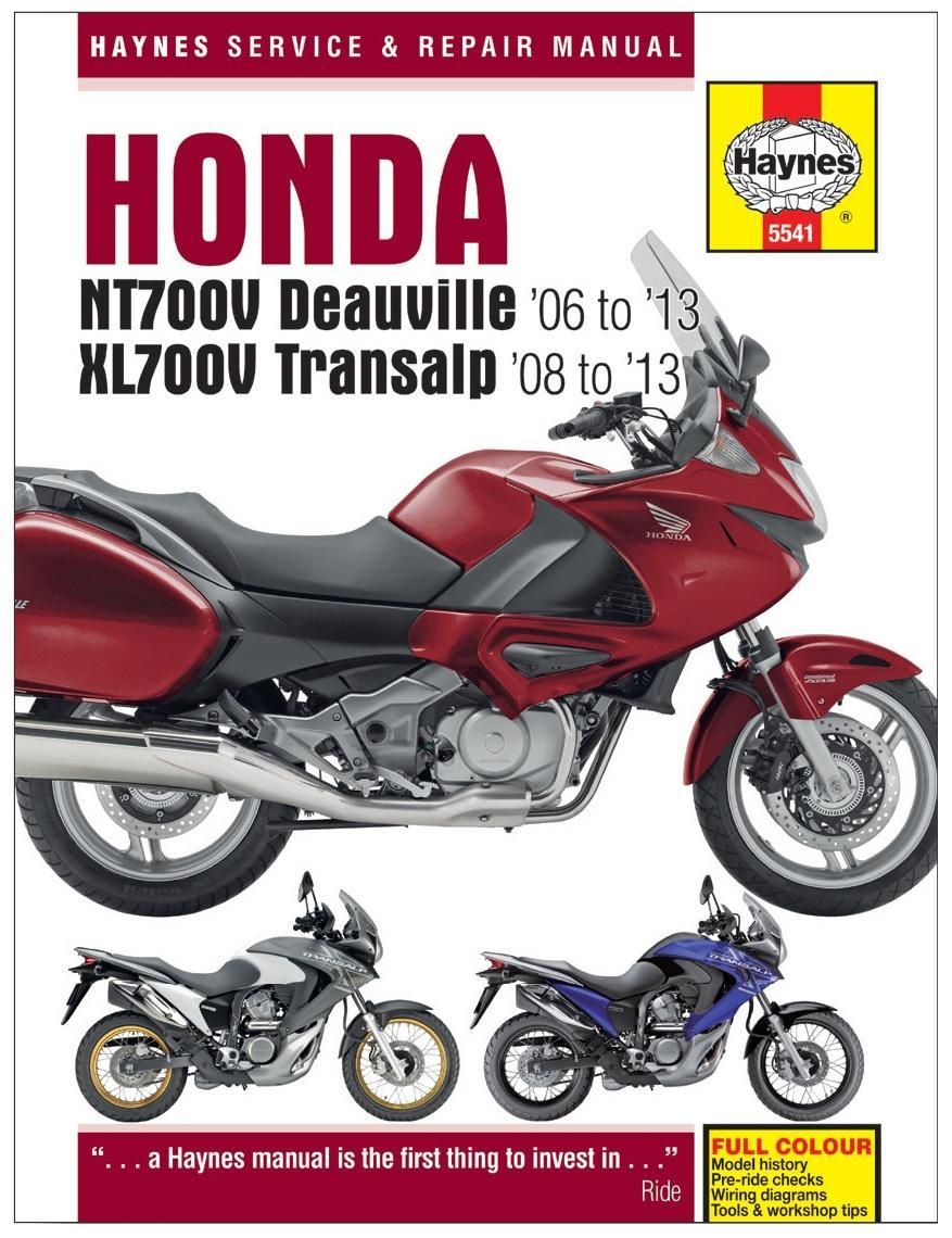 haynes honda nt700v deauville xl7 rh halfords com honda nt 700 v deauville service manual honda deauville 700 service manual pdf
